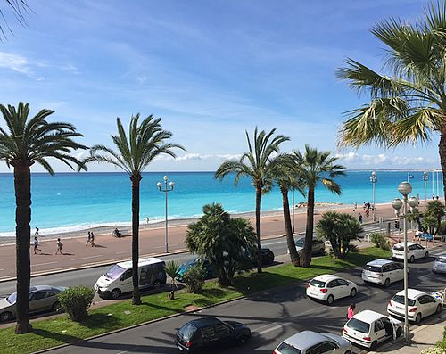 Sea view from the studio apartment Le Grand Sud